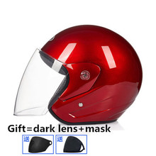 Helmet motorcycle open face capacete para motocicleta cascos para moto racing motorcycle vintage helmets with one more dark lens