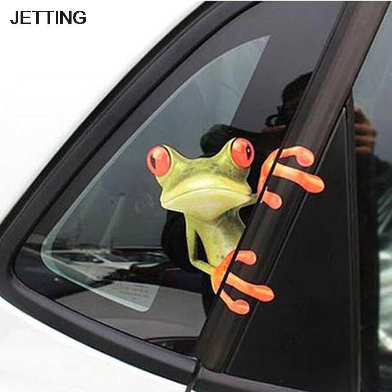 1pc 3Dカエルおかしい車のステッカー車のスタイリングビニールデカールステッカー装飾高温 & 防水