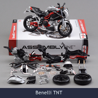 2017 Brinquedos 1/12 Diy Assembly Motorcycle Model Building Kits Toy Benelli TNT Puzzle For Child Gift Or Collection
