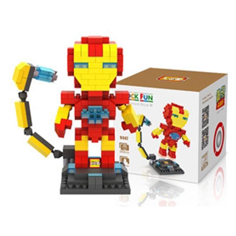 Mini Nano Blocks Super Heroes LOZ Building Blocks Iron Man Action Figure Diamond Blocks Compatible Legoelieds 9447