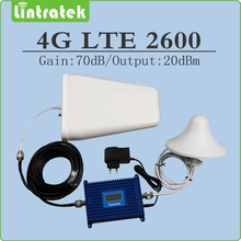 Gain 70dB 4g lte 2600mhz Signal Repeater 4g lte FDD Band 7 Cellphone signal booster full set with LPDA/Ceiling antenna and cable