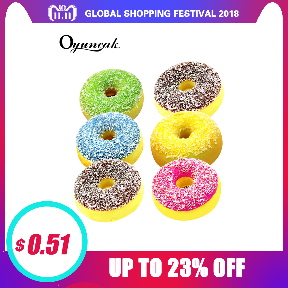 Oyuncak Squishe Antistress Squishy Slow Rising Stress Relief Novelty & Gag Toys Gadget Anti-stress Jumbo Donut Funny Keychain 2pcs stress relief world map jumbo ball atlas globe palm ball planet earth ball stress relief slow rising squishies toys