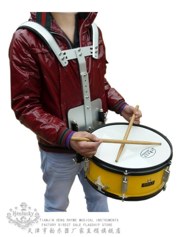 Henlucky Advanced packboard snare <font><b>drum</b></font> <font><b>marching</b></font> <font><b>drums</b></font> orange color musical instrument toca cajon baquetas maple wood <font><b>drum</b></font> sticks