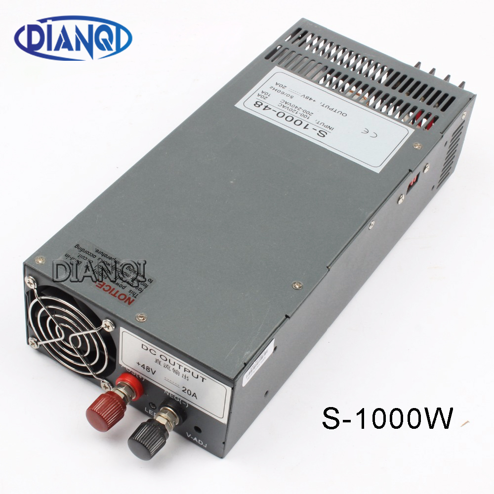 DIANQI S 1000 48 power suply output 48v 1000w 48v 20a power supply transformer ac to