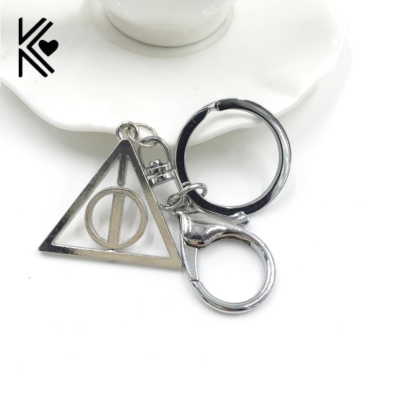 Cheap Wholesale Deathly Hallows Rotatable Triangle Keychain