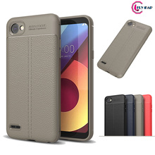 Fitted Case for LG Q6 M700 M703 M700AN Retro PU Silicone Mobile Case Soft TPU