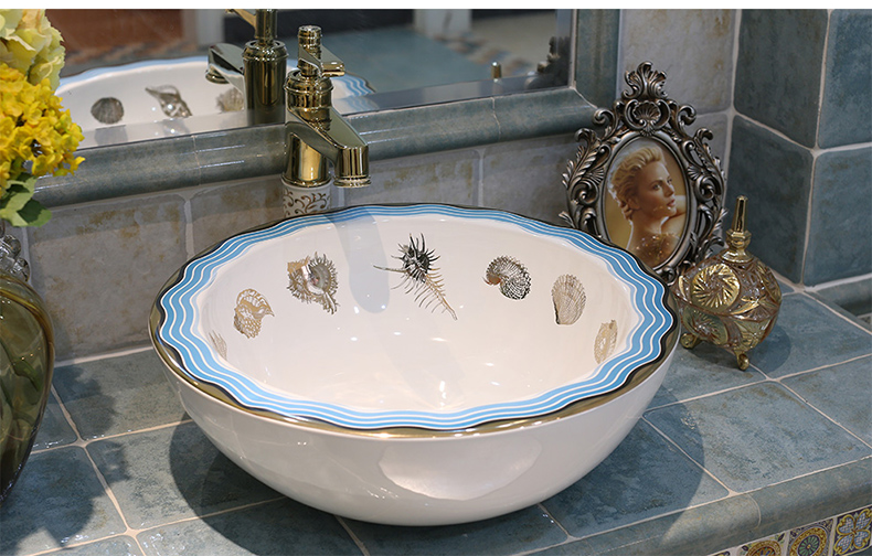 Round Western Antique Chinese Ceramic Colored Bathroom Basin Hand Wash Bowls Lavabo Sink Bowl In Sinks From Home