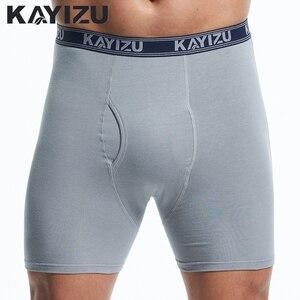 Image 2 - KAYIZU 3 Stuks Mannen Underwears Solid Katoen Boxers Plus Size Mannen Ondergoed Comfortabele Boxershorts Mannelijke Slipje Onderbroek