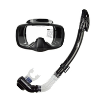 Free shipping Silicone Dive spearfishing Mask+ dry breathing tube Snorkel Diving set MS 25530