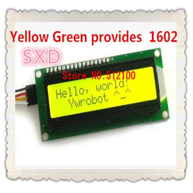 10 sztuk (tło Green screen) IIC/I2C 1602 moduł LCD żółty zielony zapewnia plików bibliotek