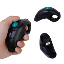 цены 2.4G Wireless Air Mouse Handheld Mini USB Optical Trackball Mice Mouse Thumb-Controlled Handheld Trackball Mice Mouse
