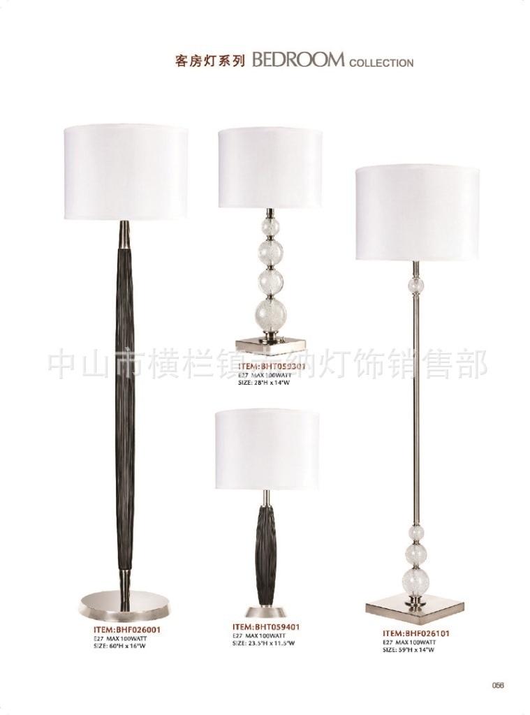 American Minimalist Fashion Crackle Glass Beads Hotel Lamp Floor