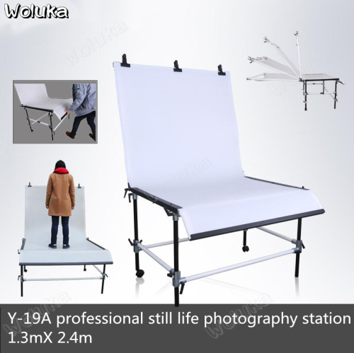 Y-19A + Professional Heavy Object Photography Station 1.3m* 2.4m Still Life Table Shooting Table Aluminum Joint CD50 T08