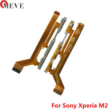 100% câble d'alimentation/arrêt d'origine bouton de commutation pour Sony xperia M2 Aqua S50H S50T D2303 D2305 D2306 câble de Volume bouton flexible(China)
