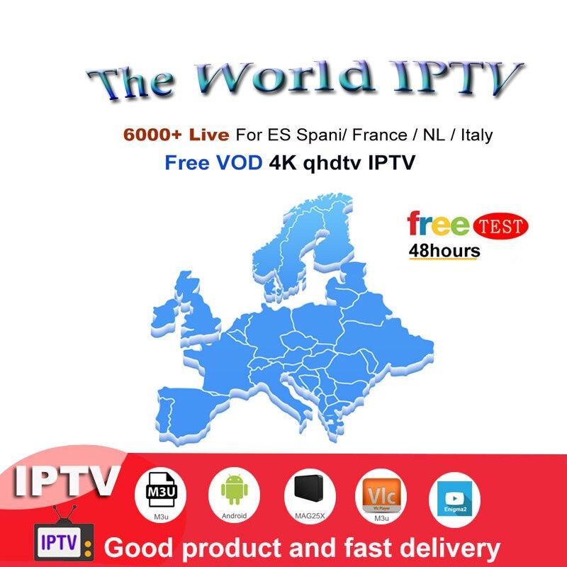 IPTV Subscription free test channel iptv spain Canada Poland usa for  android box iptv m3u enigmas2 h96 max smart tv box