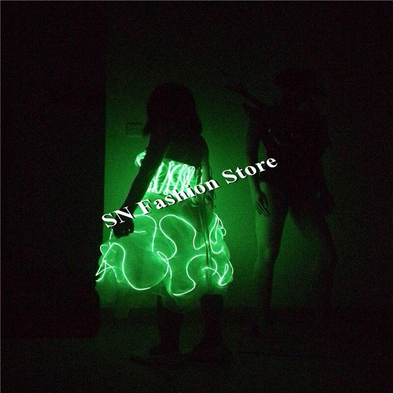 SN79 EL külma juhtmed kerged kostüümid muusika tantsusaal seksikas - Pühad ja peod - Foto 4
