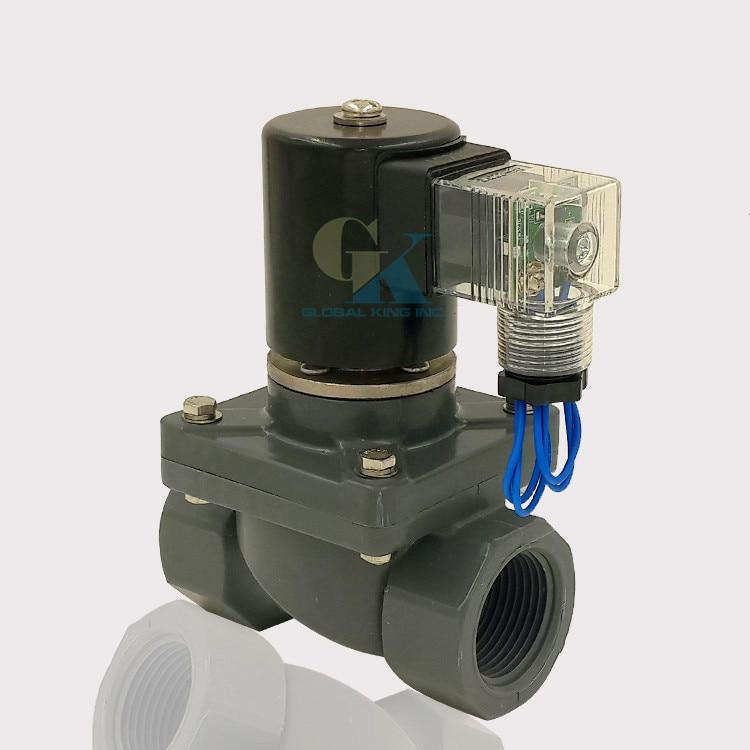 g1 1 4 upvc anti corrosion acid sewage water electric solenoid valve nc 220v ac in solenoid. Black Bedroom Furniture Sets. Home Design Ideas