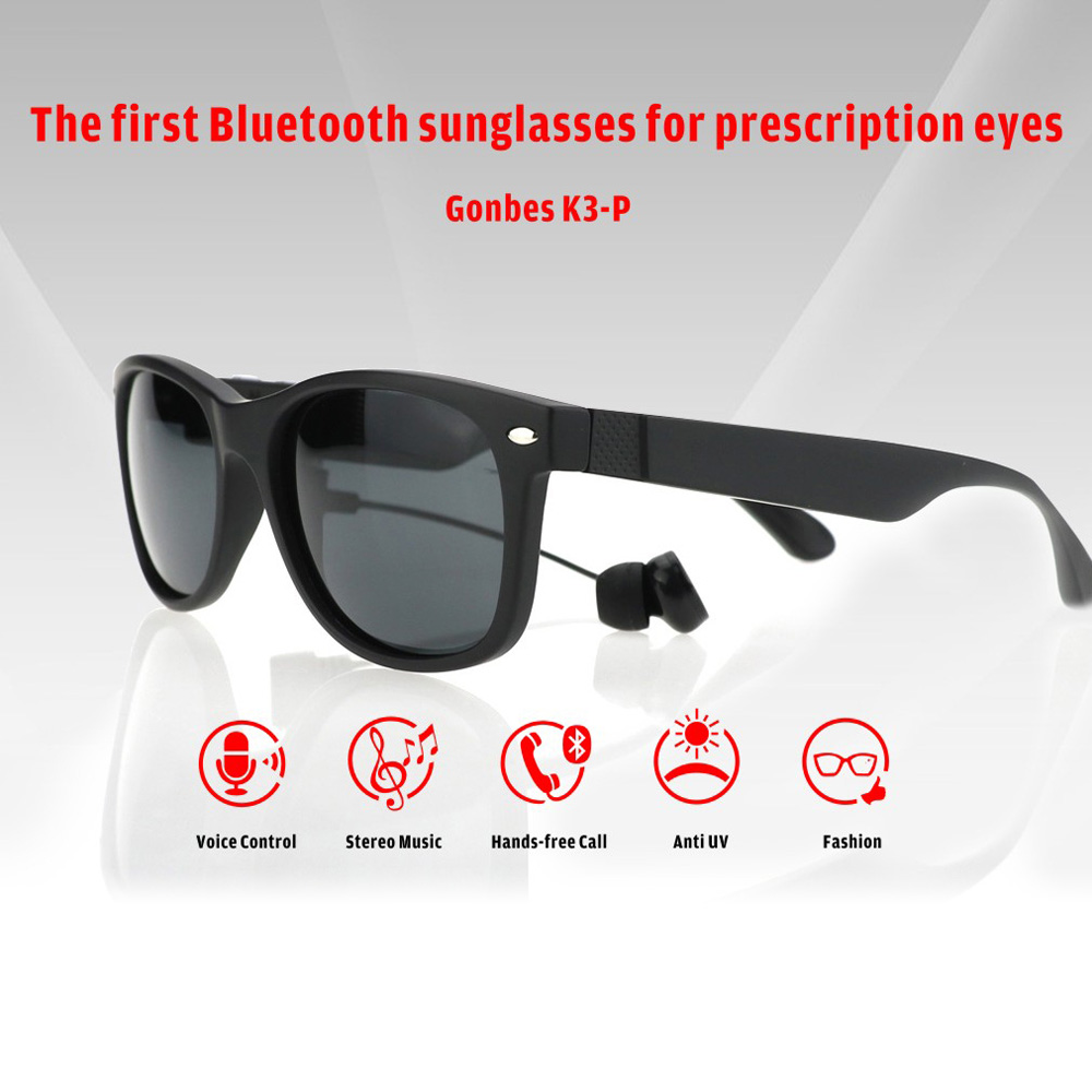 Summer Men Sunglasses UV Bluetooth Headset Wireless Sun Glasses Headphones With Wired Earphone Bluetooth Earphone For Phone PC