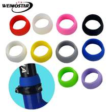 MTB Cycling High elasticity Mountain Bike Seat Post Rubber Ring Dust Cover Waterproof Silicone Bicycle Protective random color(China)