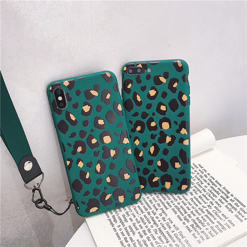 HYSOWENDLY Yellow Duck Leopard Wristband Phone Case for iPhone 8 7 6 6s  Plus X XR XS Max Cute Girly Soft Silicone TPU Coque Capa