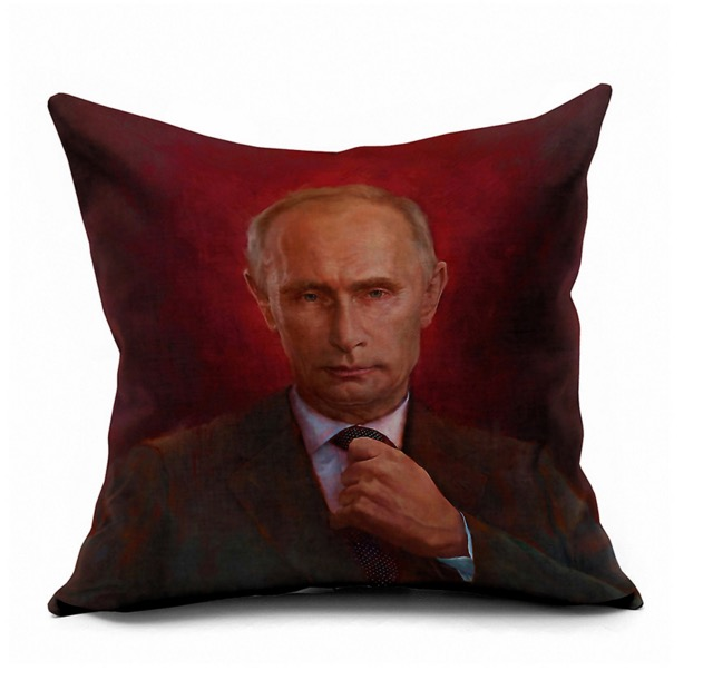 The Russian President Vladimir Putin Oil Portrait Emoji Pillow Massager  Decorative Pillows Cover Euro Home Decor