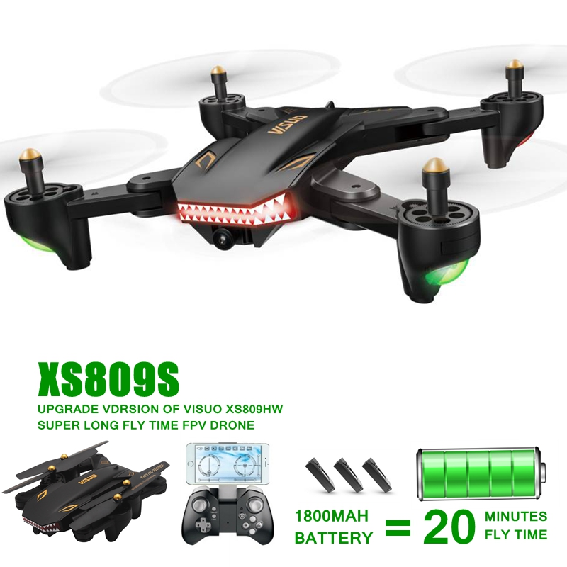 XS809S Long Time Flying Camera Drones With Camera HD WIFI Fpv Quadcopters RC Dron Toys Rc Helicopter Vs Visuo Xs809w Xs8090hw