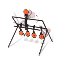 New 5 Plate Reset Shooting Target Tactical Metal Steel Slingshot BB Airsoft Paintball Archery Hunting Outdoor Indoor