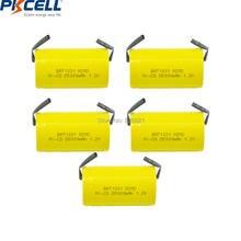 5 adet PKCELL güzel 1.2V şarj edilebilir piller D 5000mAh NI CD şarj edilebilir pil ile düz üst kaynak parçası elektrikli bisiklet