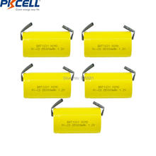 5pcs PKCELL NiCd 1.2V Rechargeable Batteries D 5000mAh NI CD Rechargeable Battery Flat Top With Welding piece for electric bike