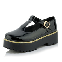 เสื้อสายคล้องผู้หญิงรองเท้าแบนแพลตฟอร์มรองเท้าแฟชั่นส้นหนาC Reepersสตรีรองเท้าหัวเข็มขัดผู้หญิงO Xfordsกลวงออกรอบนิ้วเท้ารองเท้าผู้หญิง