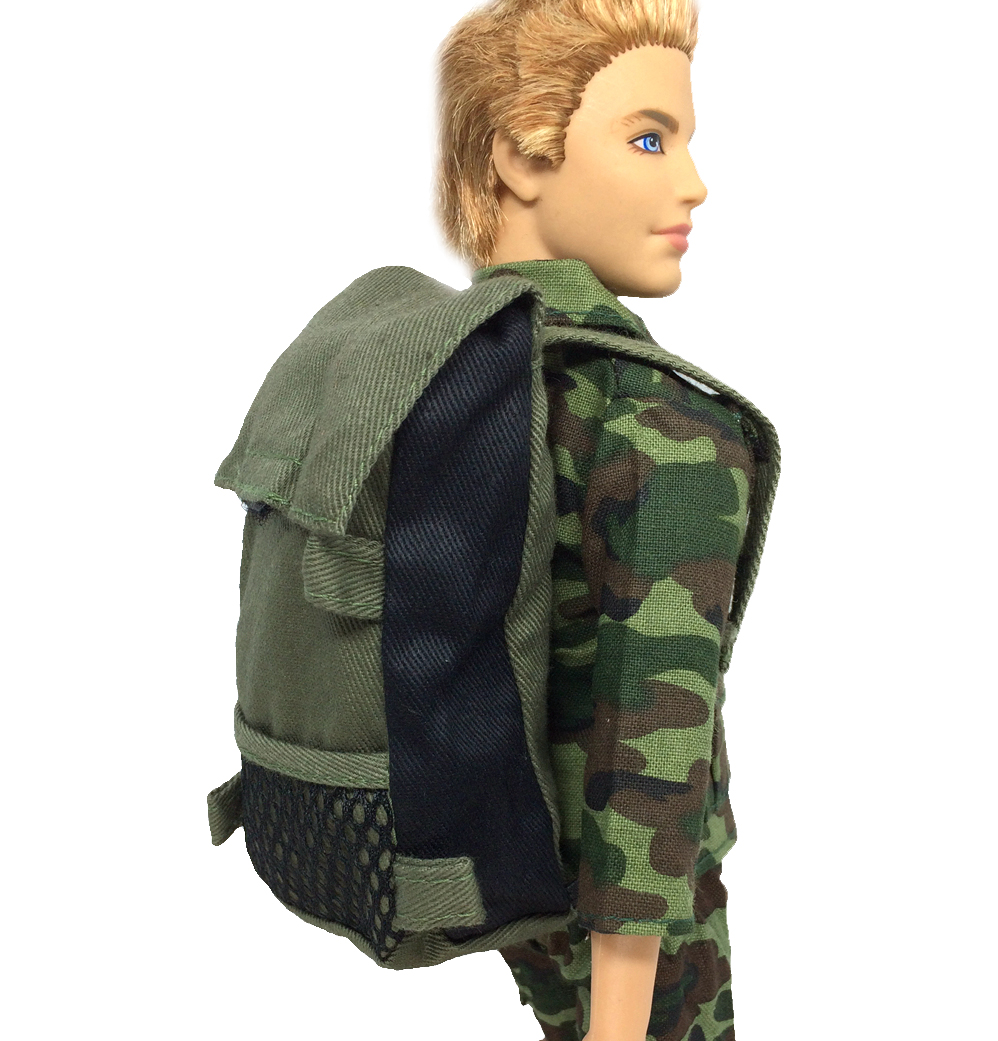 цена NK Original Prince Doll Knapsack Marines Combat Accessories Bag For Barbie Boy Male Ken Doll For Lanard 1/6 Soldier Best Gift
