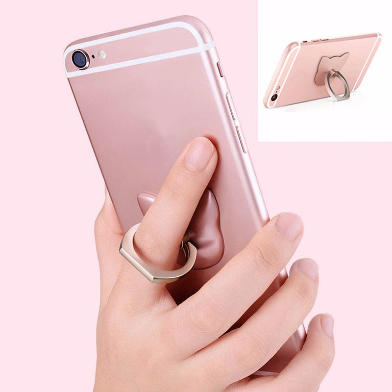 5 Pcs/Lot <font><b>Car</b></font> Grip <font><b>Holder</b></font> Stand Cat Finger <font><b>Ring</b></font> Metal Mount For Cell <font><b>Phone</b></font> for GPS Universal Free shipping