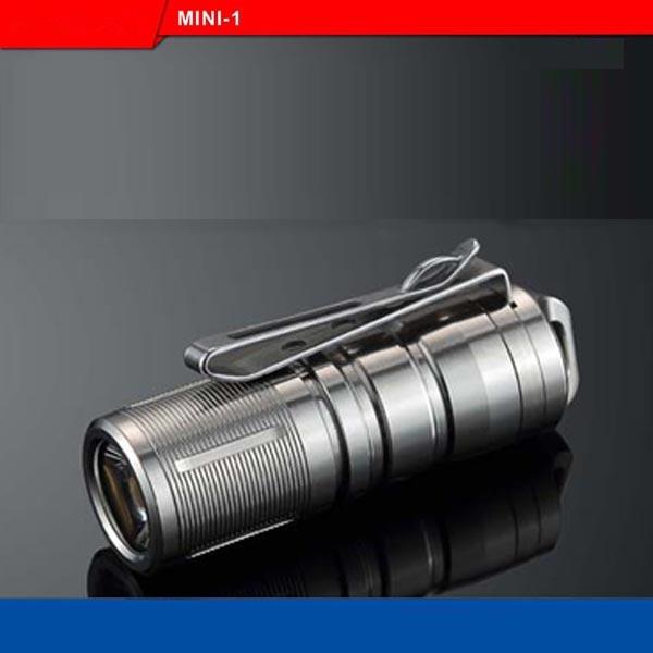 Jiguoor MINI-1 Super Mini Powerful and Rechargable Cree XP-G2 LED Led Flashlight Titanium Keychain by 10180 Battery sofirn sf14 cree xp g2 mini portable led flashlight