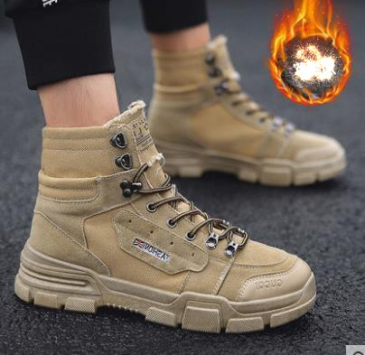 Fashion Men Low Flat Ankle 2018 Winter Autumn Work Boots Casual Martin Shoes Men Fashion Male work Boots size 39-44 5