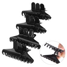 12 Pcs/pack Pro Salon Black Plastic Butterfly Clamps Clips Hairdressing Tools Big Hair Claw Salon Section Clip Styling Tool