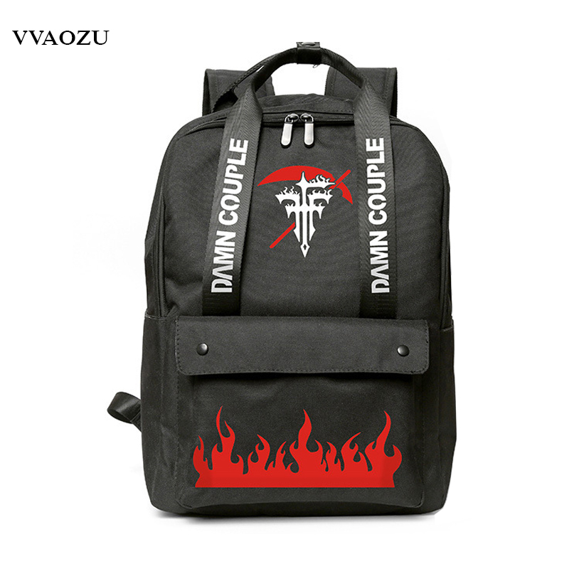 Anime FFF Oxford Backpack Unisex School Bag Satchel Rucksack Preppy Style JK Laptop Shoulder Bags with Handles виниловые пластинки fff blast culture