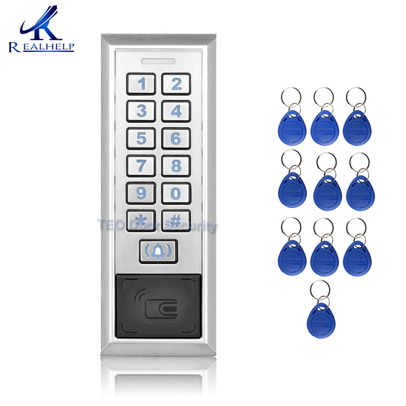 8000Users Capacity Card reader Metal Password Access Controller with Wiegand 26 interface RFID Door Entry System