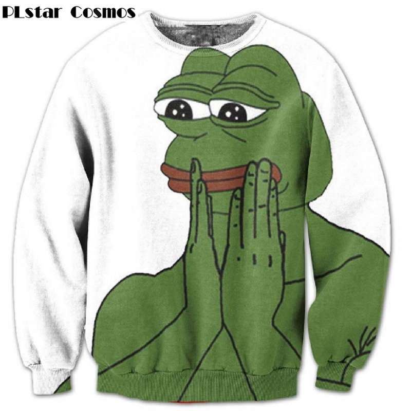 PLstar Cosmos Funny Sad Pepe The Frog printing 3d Sweatshirts Women Men Tracksuits size S 5XL in Hoodies amp Sweatshirts from Men 39 s Clothing