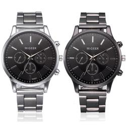 Модные Мужские Аналоговые кварцевые наручные часы с кристаллами из нержавеющей стали, наручные часы с браслетом, Роскошные автоматические ...