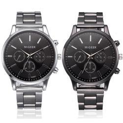Reloj de pulsera de cuarzo analógico de acero inoxidable y cristal para hombre, reloj de pulsera para hombre, reloj mecánico automático de lujo de primera marca