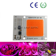 1X 4X 10X Led Grow Light Chip 20W 30W 50W 230V Full Spectrum 380nm~780nm Best for Hydroponics Greenhouse Grow DIY for LED Lamp(China)