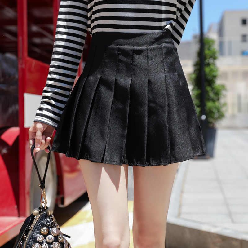 1b1291a7b ... Gowyimmes Women pink high waist pleated skirt Wind Cosplay solid skirt  kawaii Girl Simple A- ...
