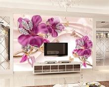 Купить с кэшбэком Beibehang Custom Wallpaper 3D Stereo Pink Relief Flower Sofa TV Background Mural House Decorative Background 3d wallpaper mural