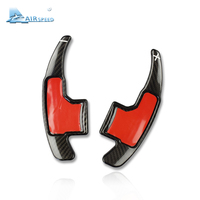 Airspeed Carbon Fiber Car Steering Wheel Paddle Shifters Covers Car Accessories for Ford Mustang 2015 2016 2017 Car styling