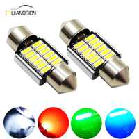 Luces interiores LED Canbus 12SMD 4014, 31mm, DE3175 3021 3022 12V 24V, No polar, blanco, verde, rojo y azul, 2 uds.