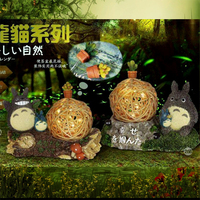 Totora Grass Rattan Ball LED Cartoon Lighting Happiness Table Desk Decoration Lamps Cute Night Light