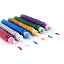 10pc DIY Crafts Flash Colorful Glue Kids Children Adhesive Beautify Art Decorative Drawing Color Powder Liquid Glue School Gifts