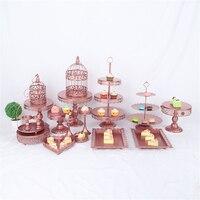 18 шт. набор украшения кристалл 3 металлических слоев сдобы корзину на торт ко дню рождения золотой