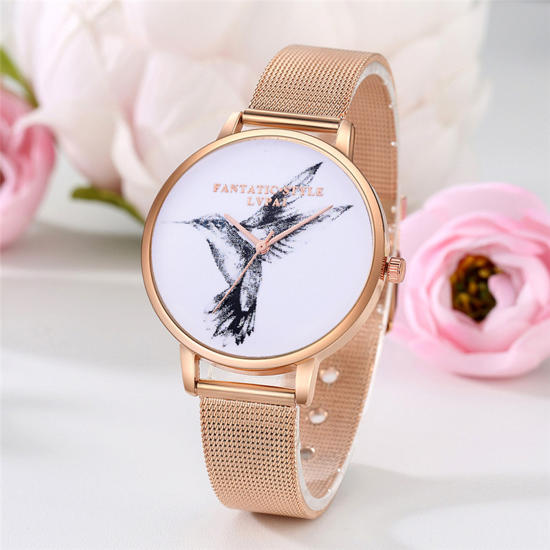 Hot Sale Saat Clock Watches Women brand Fashion Stainless Steel Analog Quartz Round Wrist Watch Bracelet for Women's Fashion fashion stainless steel quartz analog bracelet wrist watch for women blue silver white page 3