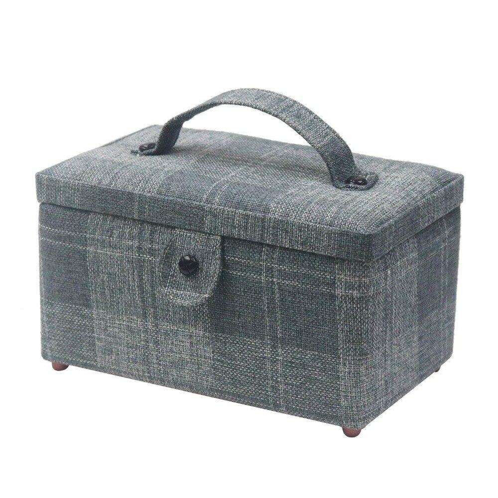 New Sewing Kits Fabric Sewing Storage Basket Stitch Needle Thread Sewing Tools Storage Box Basket Fabric Craft Christmas Gifts